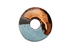 Greek Ceramic Raku Metallic Frosted Copper Spacer Disc 20mm