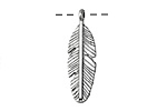 Zola Elements Antique Silver (plated) Feather 9x30mm