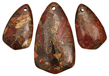 Red Creek Jasper w/ Pyrite Arrow Pendant Set 28x50mm, 20x33mm