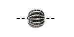 Greek Pewter Sea Urchin Round Bead (large hole) 12mm