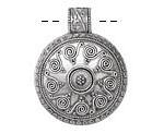 Zola Elements Antique Silver (plated) Burning Sun Focal 33x41mm