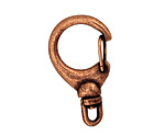 Antique Copper (plated) Swivel Lobster Clasp 33x19mm