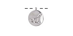 Rhodium (plated) w/ Crystals Capricorn Constellation Charm 11x13mm