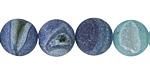 Sky Blue Line Agate (matte) Round 12mm