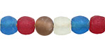 African Recycled Glass Jewel Tone Mix Tumbled Round 10-14mm