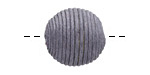 Graphite Thread Wrapped Bead 18mm