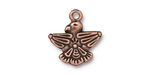 TierraCast Antique Copper (plated) Thunderbird Charm 18x19mm