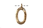 Saki Bronze Small Organic Loop Pendant 13x25mm