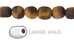Tiger Eye (Matte) Nugget (Large Hole) 10x8mm