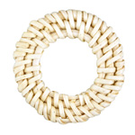 White Rattan-Style Woven Ring Focal 40-46mm