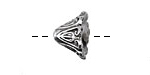 Pewter Lily of the Valley Flower Bead Cap 11x14mm