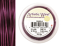Artistic Wire Purple 18 gauge, 10 yards