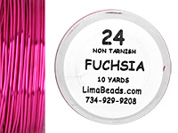 Parawire Fuchsia 24 Gauge, 10 Yards