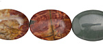 Red Creek Jasper Flat Oval 20x15mm