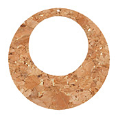 Natural w/ Metallic Gold Flecks Cork Gypsy Hoop 51mm