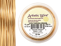 Artistic Wire Non-Tarnish Brass 22 gauge, 15 yards