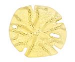 Lemon Recycled Glass Sand Dollar 39mm