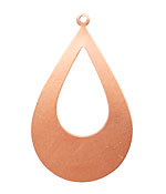 Copper Open Teardrop Blank 31x52mm