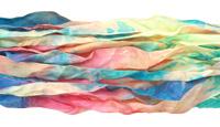 "Spring Garden Hand Dyed 100% Habotai Silk Ribbon 1/2""-1"""