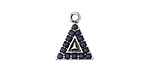 Zola Elements Antique Silver (plated) Beaded Navy Blue Triangle Charm 13x17mm