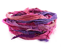 Bougainvillea 100% Silk Sari Ribbon