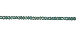 Sea Green Opal w/ Silver Luster Crystal Faceted Rondelle 2mm