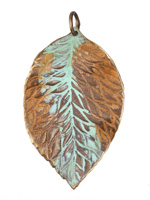 Vintaj Vogue Natural Brass Hibiscus Leaf 34x55mm