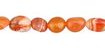 Carnelian (natural-orange) Tumbled Nugget 7-12x6-11mm