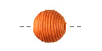 Tangerine Thread Wrapped Bead 14mm