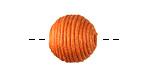 Tangerine Thread Wrapped Bead 14mm