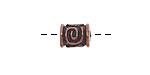 Greek Bronze (plated) Spiral Key Barrel 10x8mm