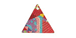 Circus Etched & Printed Gold Finish Triangle Focal 22x19mm