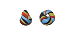 Unicorne Beads Fire & Ice Teardrop 9-10x9-10mm