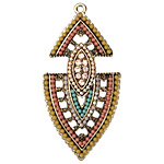 Zola Elements Antique Gold (plated) Desert Fancy Arrowhead Pendant 24x47mm