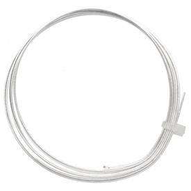 Flat Artistic Wire Tarnish Resistant Silver 21 gauge, 3 feet