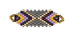 Thistle Hand Woven Focal Piece 36x12mm