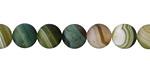 Green Line Agate (matte) Round 8mm
