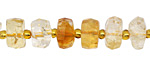 Citrine Faceted Wheel 3-7x10-12mm