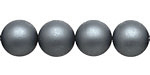 Steel Blue (matte) Shell Pearl Round 12mm