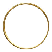 Flat Memory Wire Gold (plated) Large Bracelet .35 oz.