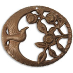 Vintaj Natural Brass Rose Jay 47x41mm