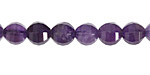 Amethyst Step Cut Round 8mm