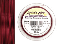 Artistic Wire Burgundy 26 gauge, 30 yards