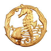 Brass Sea Life Pendant 51mm