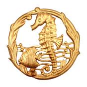 Brass Sea Life Pendant 51mm