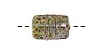 A Beaded Gift Dusted Mint Raku Small Kalera 17-18x11-12mm