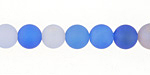 Blue Skies Agate Mix (matte) Round 8mm