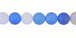 Blue Skies Agate Mix (matte) Round 8mm