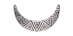 Zola Elements Antique Silver (plated) Aztec Crescent Focal Link 32x17mm