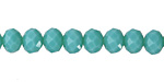 Green Turquoise Crystal Faceted Rondelle 8mm